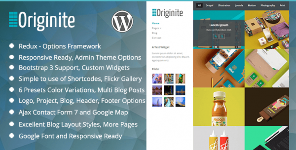 Originite - Responsive Portfolio WordPress Theme