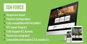 JSN Force-The Perfect Synergy of VirtueMart and JoomlaShine