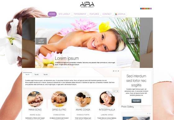 Td Aira - Free & commercial joomla template