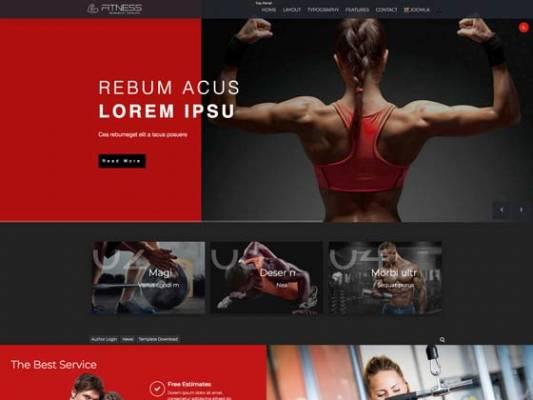 Td Fitness - Joomla template