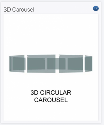 3D Circular carousel module