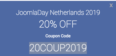 Joomla day discount - olwebdesign
