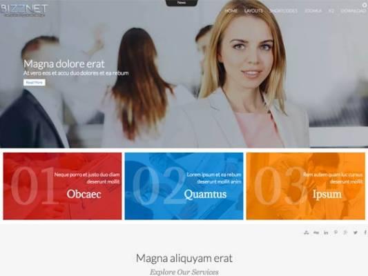 Ol_Bizznet- Joomla Template