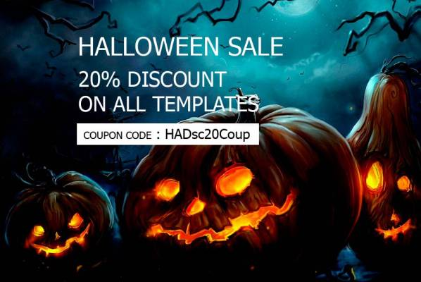 Olwebdesign-Halloween 20% discount on all templates