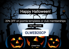Happy Halloween - 20% OFF all templates and memberships