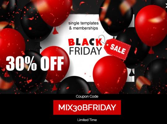 Mixwebtemplates - 30% OFF Black friday!