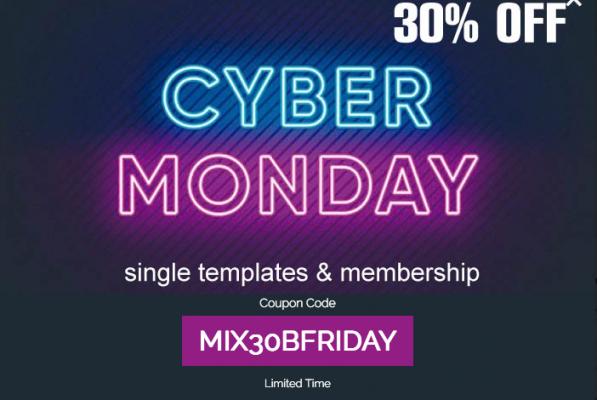 Mixwebtemplates - Cyber week 30% OFF!