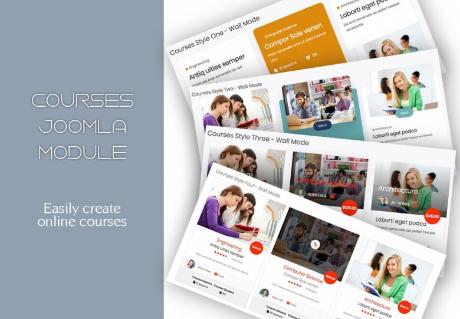 Courses Module - Mixwebtemplates