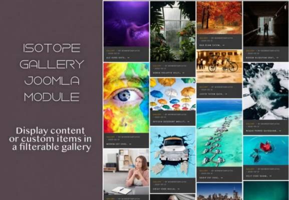 Isotope Gallery -Joomla Module