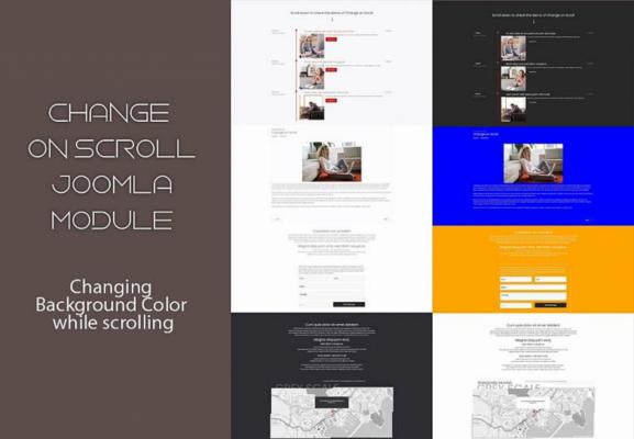 Change on scroll Joomla module