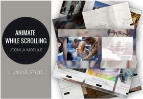 Animate while scrolling - Joomla Module