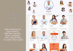 Team Module - Mixwebtemplates