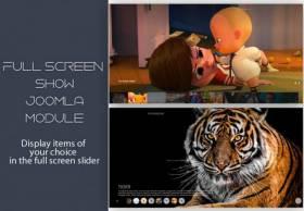 Fullscreen show Joomla module