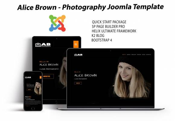 Alice Brown- photography and portfolio template