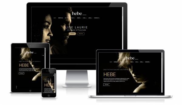 Hebe - Creative Black Joomla! template