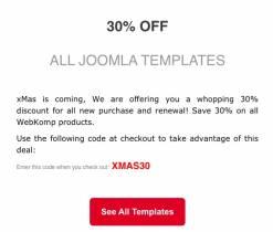 Save 30% on Joomla Templates