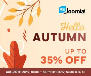 Get your RSJoomla! Discount on this Autumn Sale!