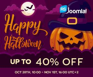 Wicked Halloween Discounts at RSJoomla!