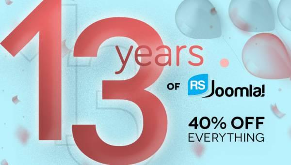 Happy 13 RSJoomla! Years!