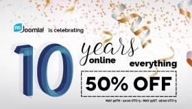 Get 50% discount. Happy 10 RSJoomla! Years!