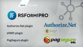 3 new payment integrations available for RSForm!Pro