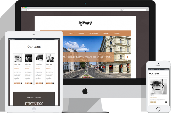 RSPenta! Responsive Template for Joomla! 3.x