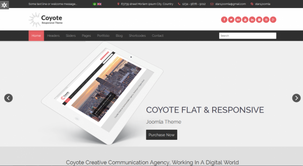Coyote - Responsive Business Joomla Template
