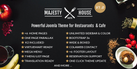 Multi-Cuisine Restaurants Joomla Template