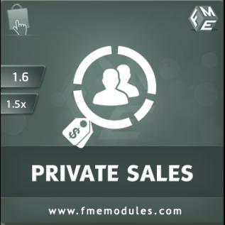 Private Sales PrestaShop Module