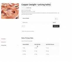 Measurement Price Calculator WooCommerce by FMEAddons