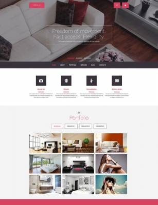 Stylish Free Joomla Template from TemplateMonster
