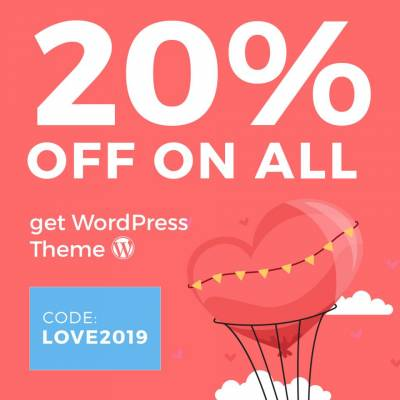 Happy Valentine's Day - get 20% OFF for Everything!