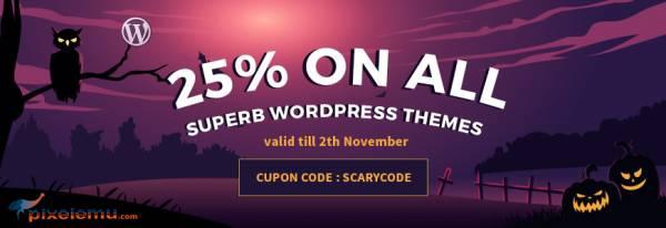 Halloween WordPress themes sale is running