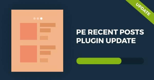 PE Recent Posts WordPress plugin updated!