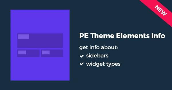 PE Theme Elements Free WordPress plugin - Watch the video