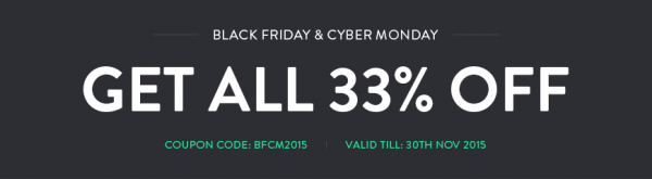 Black Friday & Cyber Monday 33% discount from PixelEmu!