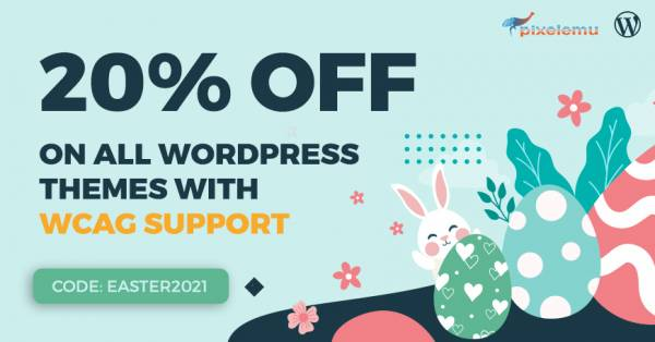 Easter Sale. 20% discount on WCAG & ADA WordPress themes