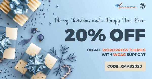 Christmas SALE - WCAG and ADA WordPress themes 20% OFF
