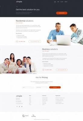 PE Simple business WordPress theme