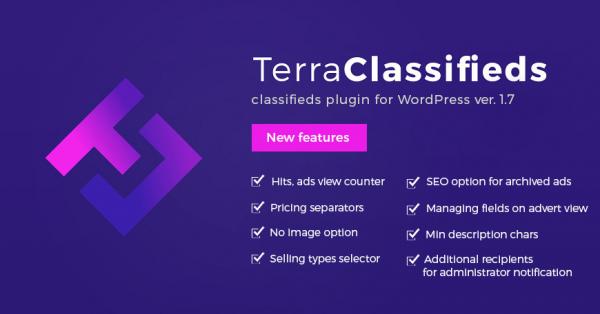 TerraClassifieds WordPress classifieds plugin updated to ver. 1.7.