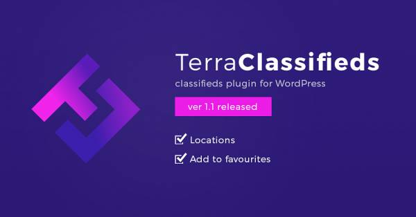 TerraClassifieds plugin 1.1 version brings new great features