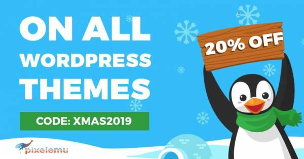 Christmas 2019 sale on WordPress WCAG and ADA themes.