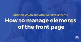 Video guide how to use Business WCAG and ADA WordPress theme.