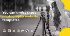 7 photography website templates You can't miss