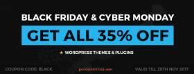 Black Friday & Cyber Monday WordPress themes sale!