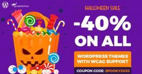 Halloween sale. Hocus Pocus -  WordPress themes 40% OFF