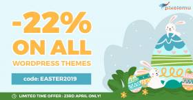 Easter Sale! Get professional WordPress themes 22% OFF