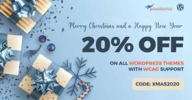 Christmas SALE - WCAG and ADA WordPress themes 20% OFF