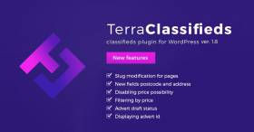 TerraClassifieds WordPress plugin 1.8 Update