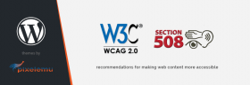How to follow WCAG recommendations in WordPress theme.